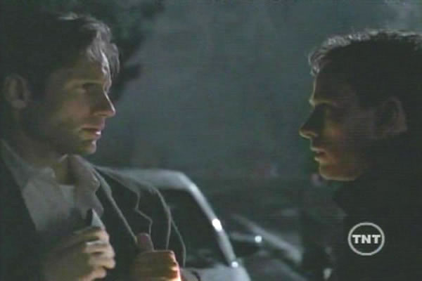 Robert Moloney With David Duchovny (left) In The X-Files (Fox)