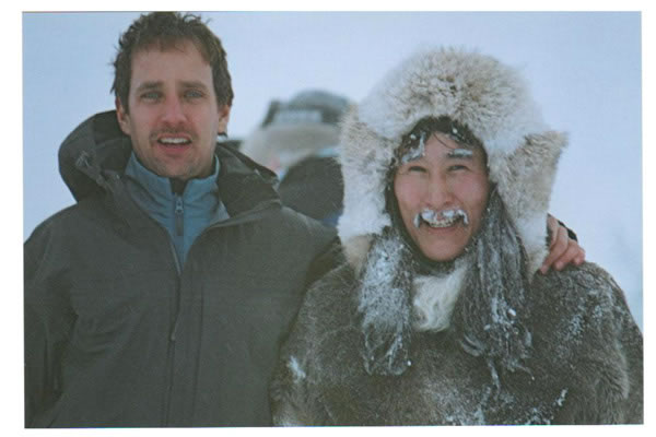 Robert Moloney With Natar Ungalaaq (right) Shooting In The Yukon