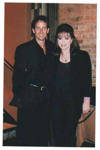 Robert Moloney With Author Jackie Collins (Hollywood Wives, CBS)