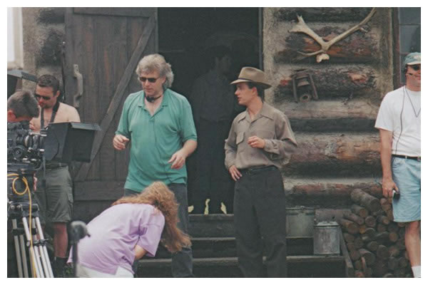 Robert Moloney With Director Neill Fearnley (left) On The Set Of NTGFAC (CBC)