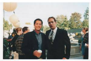 Robert Moloney With Kyle McLaughlin (left) On The Set Of The Spring (NBC)